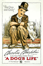 A Dog's Life 1918 Movie Poster Lithograph