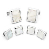 Silver Mother of Pearl JFK Presidential Cufflinks