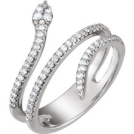 Platinum Diamond Snake Ring
