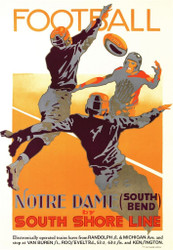 Football Notre Dame by South Shore Line