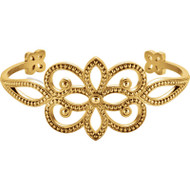 14K  or 18K Gold Beaded Fashion Bangle Bracelet