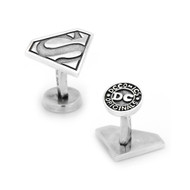 Sterling Silver Superman Cufflinks