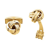 14K Gold Knot Cufflinks