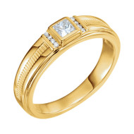 1/3 CTW Diamond Men's Ring in 14K Yellow Gold
