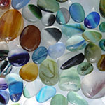 Multi color seaham seaglass for our gold sea glass earrings