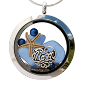 Sea Glass Jewelry Locket for Mothers Day