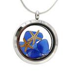 sea glass locket necklace