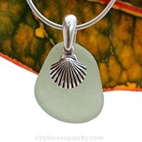 Seafoam sea glass necklace on sale for fall