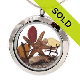 Sorry this fall inspired sea glass locket has been sold!