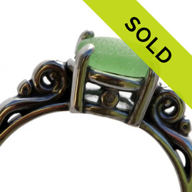 Sorry this sea glass ring has sold!