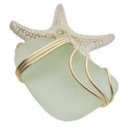 A beautiful piece of the seafoam greeni n a secure and simple triple setting.   This setting does not alter the sea glass in any way and leaves both front and back open so you can reach up and feel the great texture of this TOP Quality Certified Genuine Sea Glass.