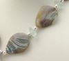 Detail of vintage agate beads