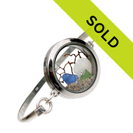 Sorry this sea glass locket bracelet has sold!