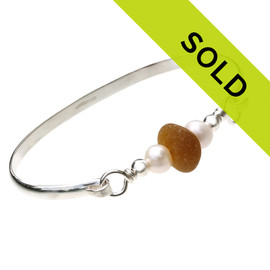 Sorry this sterling silver sea glass bangle bracelet has sold!
