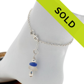 Sorry this sea glass ankle bracelet has sold!