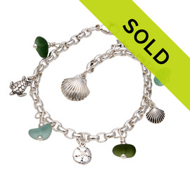 Sorry this sea glass charm bracelet has sold!