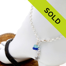 Sorry this sea glass anklet has sold