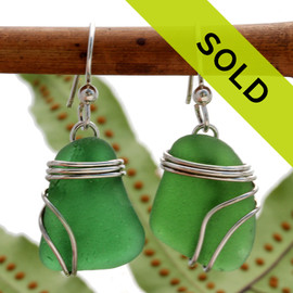 Sorry these sea glass earrings are no longer for sale!