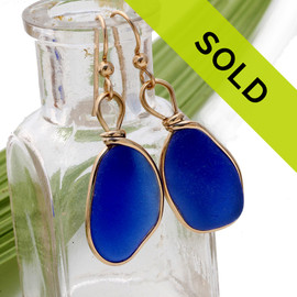 Sorry this pair of blue sea glass earrings have been sold!