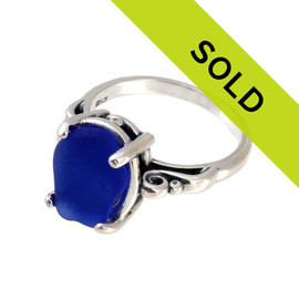 Sorry this blue sea glass jewelry ring item has been sold!
