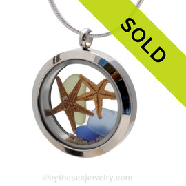 Sorry this sea glass locket necklace has been sold!