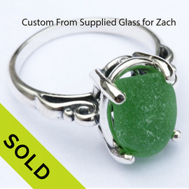 We are always happy to make custom jewelry from your sea glass.
