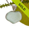 A beautiful seafoam green natural sea glass heart set in our deluxe wire bezel setting!  Genuine sea glass hearts are a RARE phenomena and cherished among sea glass lovers!
