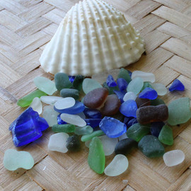 Many jewelry quality pieces in this sea glass sampler... Sea Shell IS included!