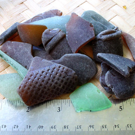 Fair quality LARGE seafoam,  green & brown & one teal sea glass pieces. Perfect for jewelry or display. These are the EXACT pieces you will receive!