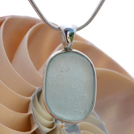 Thin and lightweight Seafoam Green Sea Glass In Sterling Deluxe Wire Bezel© Natural UNALTERED sea glass left just the way it was found on the beach