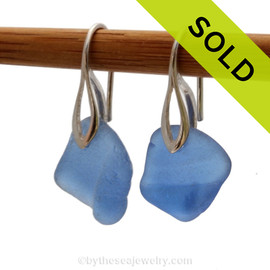 Simple and elegant these ridged Carolina Blue sea glass earrings are bound to get you compliments! Sorry this sea glass jewelry selection is no longer available.