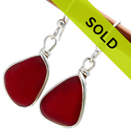 SORRY THESE RARE SEA GLASS EARRINGS HAVE BEEN SOLD!