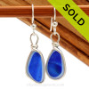 A great match in my English Multi Sea Glass Earrings in a vivid mixed Blue set in our Original Wire Bezel© setting in silver. Sorry this Sea Glass Jewelry selection is no longer available.
