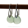While seafoam green sea glass is a medium rare, the variance of hues can still make this a task of matching pairs.