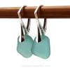 Simple elegant genuine sea glass earrings in a desirable vivid aqua.