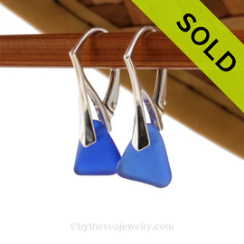 Simple and elegant these petite genuine blue sea glass earrings are bound to get you compliments! Sorry - this Sea Glass Jewelry selection is NO LONGER AVAILABLE!