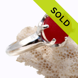 Sorry this red sea glass ring has sold!