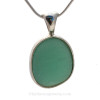 A very large Natural Sea Glass Pendant in a classic timeless setting.