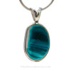 A Genuine Sea Glass Jewelry Pendant set in a timeless, elegant and secure setting of sterling silver.