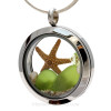 Pictured here is a Custom Locket with green sea glass, May birthstones a mom charm and a starfish. BUT CHOOSE YOUR OWN!