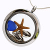 Blue Sea Glass & Flops Locket. This is the EXACT locket you will receive!