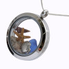 Blue Sea Glass & Sterling sea shell Locket. This is the EXACT locket you will receive!