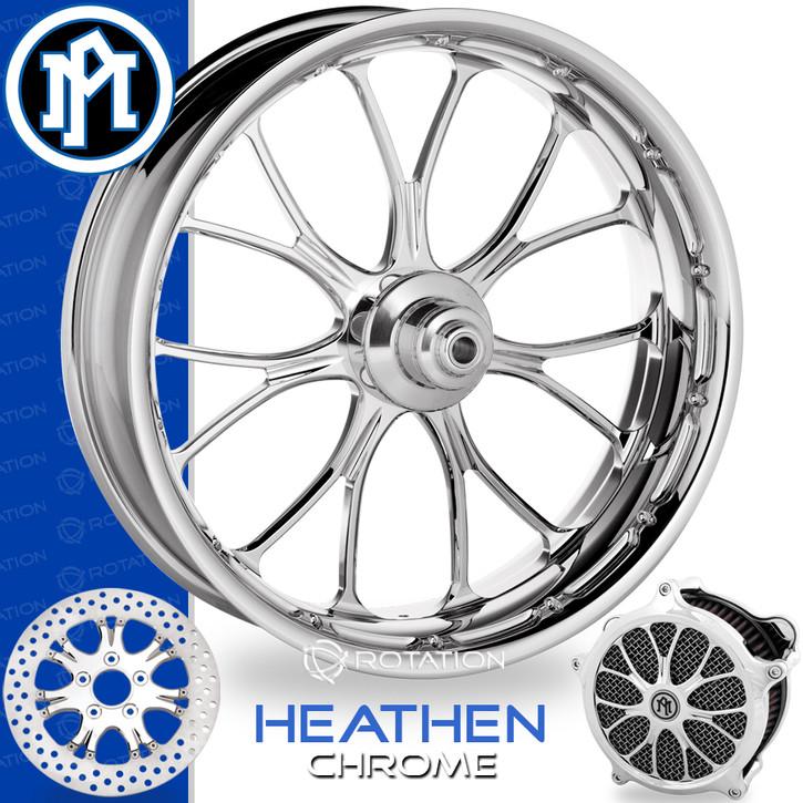 Performance Machine Heathen Chrome Custom Motorcycle Wheel