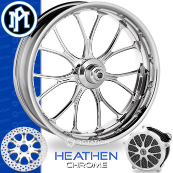 Performance Machine Heathen Chrome Custom Motorcycle Wheel
