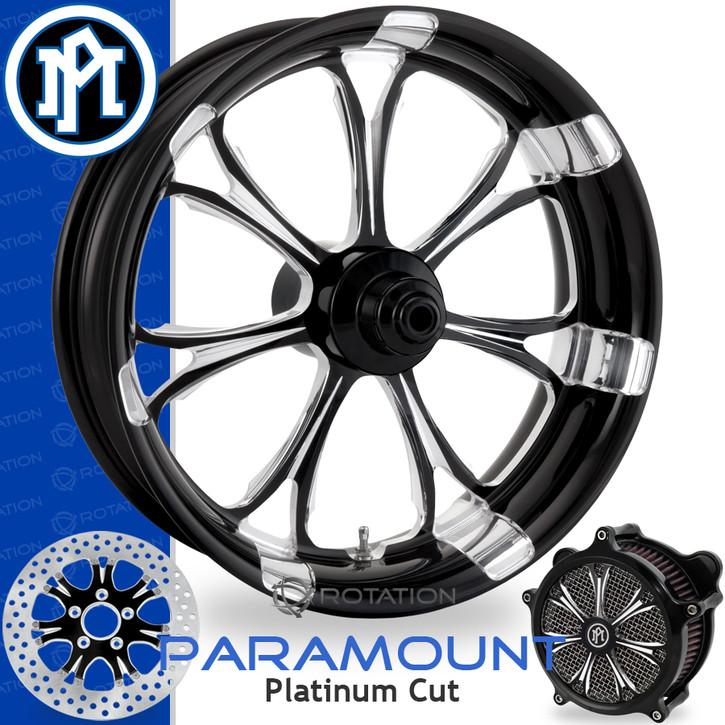 Performance Machine Paramount Platinum Cut Custom Motorcycle Wheel