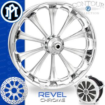 Performance Machine Revel Contour Chrome Custom Motorcycle Wheel