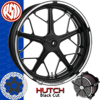 Roland Sands Design Hutch Contrast Cut Custom Motorcycle Wheel
