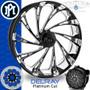 Performance Machine Virtue Contour Platinum Cut Custom Motorcycle Wheel