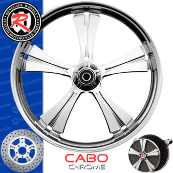 Renegade Wheels Cabo Chrome Custom Motorcycle Wheel