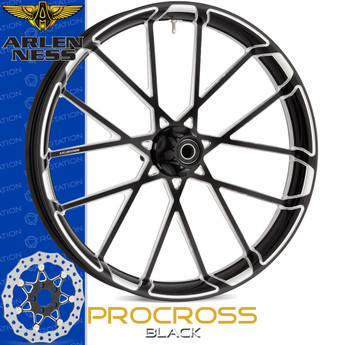 Arlen Ness Procross Black Motorcycle Wheel